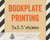 BOOKPLATE / BOOKMARK PRINTING for any digibuddha Book Plate / Book Mark Sticker Label Baby Shower Bookplate Kids Baby Boy Girl