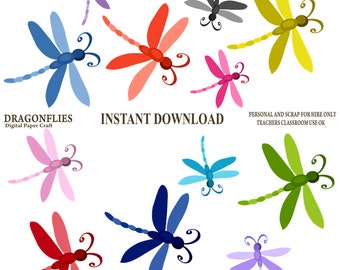 Dragonfly Clipart, Dragonflies Clipart, Instant Download, Dragon Fly Clip Art