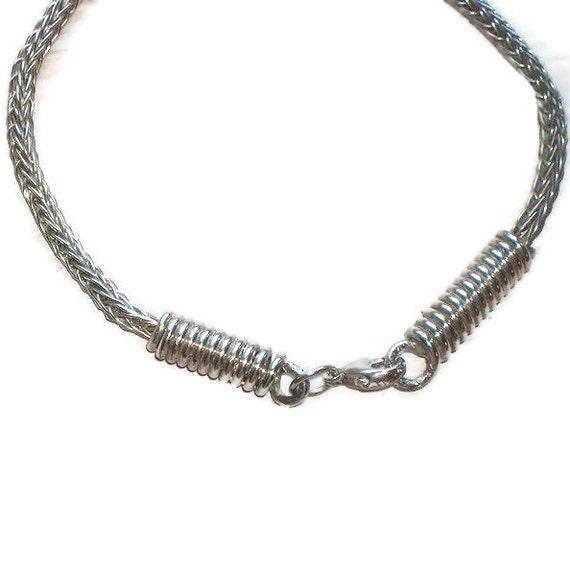 Handmade Sterling Silver Viking Knit Bracelet