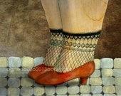 red shoes -   art print illustration women home decoration
