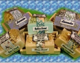 Natural SEA SPONGE Glycerin Soap Lavender