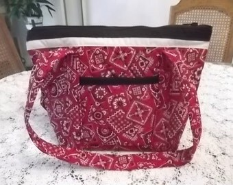 Red Black and White Purse