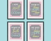 I hope you dance - Quote Set - Girl Bedroom or Nursery - Typography