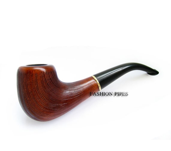 NEW - RUSTICATED Tobacco Pipe Smoking Pipe Engraved. Hand Carved pipes wooden pipes Limited Edition wood pipe