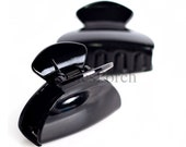 5pcs of 60mm Length Glossy Acrylic Hair Claw  in Black or Brown