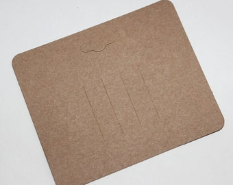 High Qualty Card Stock-Brown Kraft Paper Hair Clip Barrette Card for Jewelry and Accessories  50pcs