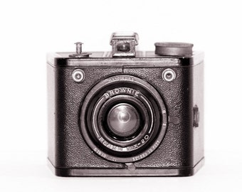 Vintage Camera Photograph Brownie Retro Decor Minimalist Geekery Gift Modern Decor, Fine Art Photography Print