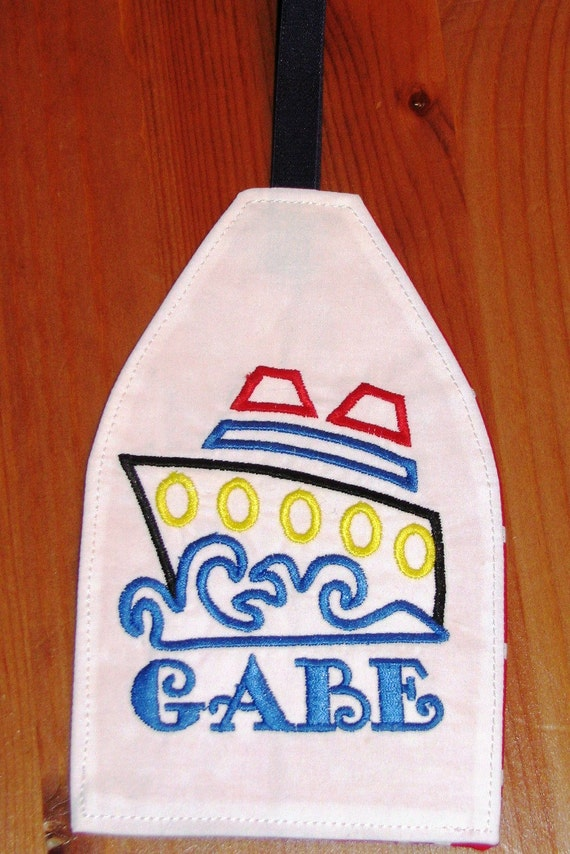 Disney Cruise personalized embroidered Cruise Ship Luggage Tag/ Luggage Spotter