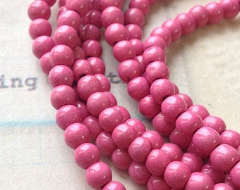 4 mm Pink Turquoise Gem Stone Beads (gz sdu - .mthc)