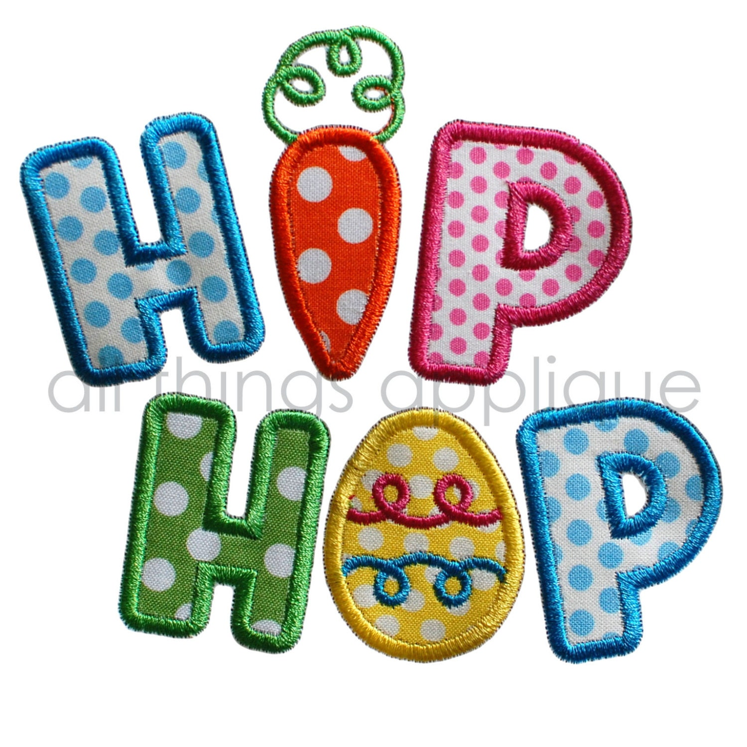 Easter applique design hip hop