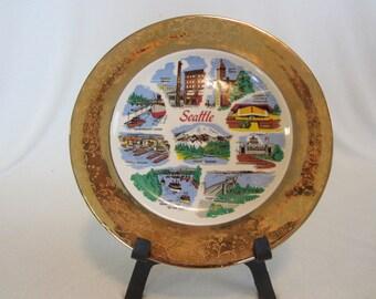 Vintage Seattle Souvenir Plate