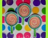 Lollipop feltie design