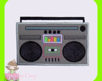Boom Box Applique design