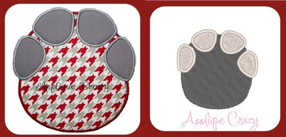Elephant footprint Applique design and embroidery design