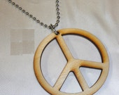 BIRCHWOOD PEACE Pendant Necklace Bead Chain