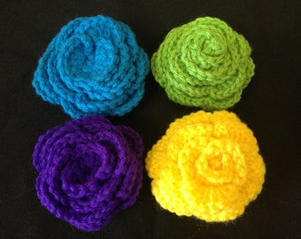 Ready to Ship Crochet Clip Flowers