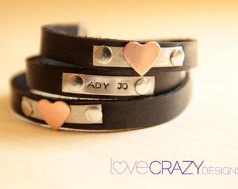 Triple wrap personalized bracelet