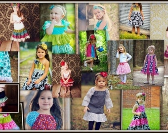 3 Sewing Patterns Girls Dress- Any 3 Patterns in my Shop for 16.99- Offer ends soon