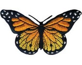 Iron On Applique, Monarch Butterfly Iron On Applique