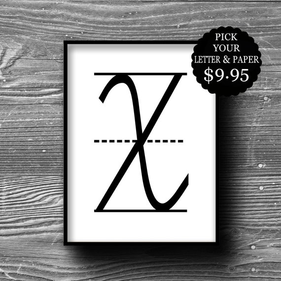 monogram personalized initial letter art kraft paper dictionary print book page poster typography 8x10 home decor industrial