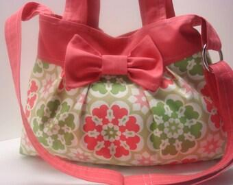 Pleated cotton purse