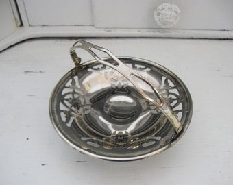Vintage Farberware Silver Basket, Silver Plate Candy Dish, Mid Century Compote