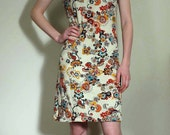 Jersey Dress Off Shoulder with Floral Print