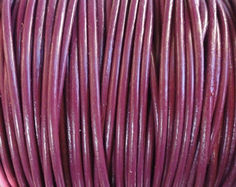 1.5mm Cyclamen Genuine Leather Round Cord