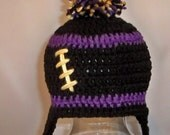 Crocheted baby football beanie Baltimore Ravens or Any Team, any color, any size