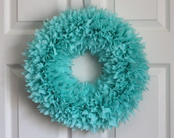 Spring Wreath - Summer Wreath - Mother's Day Wreath - Outdoor Wreath - Robin's Egg Blue Wreath - Door Wreath - Outdoor Wreath - Blue Wreath