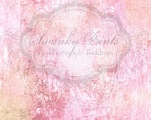 NEW ITEM 5ft x 7ft  Vinyl Photography Backdrop / Pink Grunge Texture / Custom Photo Prop