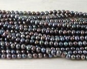 Freshwater Pearls - Peacock Potato Pearls 4-4.5mm - 16 inch strand