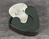 Hand Stamped Guitar Pick and Case