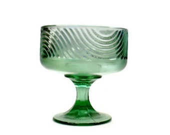 Vintage Serving Piece, Compote Dish, Green Glass,E.O. Brody Company