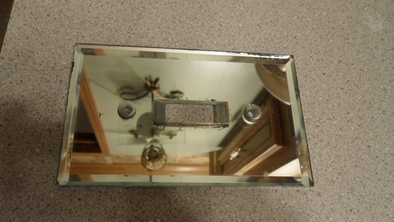 Vintage Mirrored Light Switch Plate Mirror Light Switch