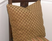 Comfy Chenille Accent Pillows, Gold, Rust Geometric - 2 available - for your comfy family room sofa Or Travel Trailer