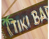 TIKI BAR painted wood sign