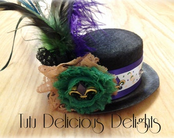Mardi Gras Mini Top Hat