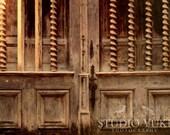 Paris Doors, Old, Rustic Door, France, Travel Photography, Brown Oak, Parisian, French, Romantic - What Secrets Are You Hiding