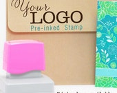 LOGO Stamp (Custom Self Inking Stamp / Pre-inked Stamp) Logo or Design file provided by you