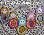 Crochet pattern matryoshka by ATERGcrochet