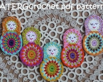 SALE - Crochet pattern matryoshka by ATERGcrochet