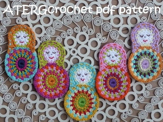 Crochet pattern matryoshka by ATERGcrochet