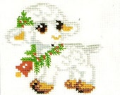 Instant Download Counted Cross Stitch PDF Pattern Miniature N17LD - Little Lamb