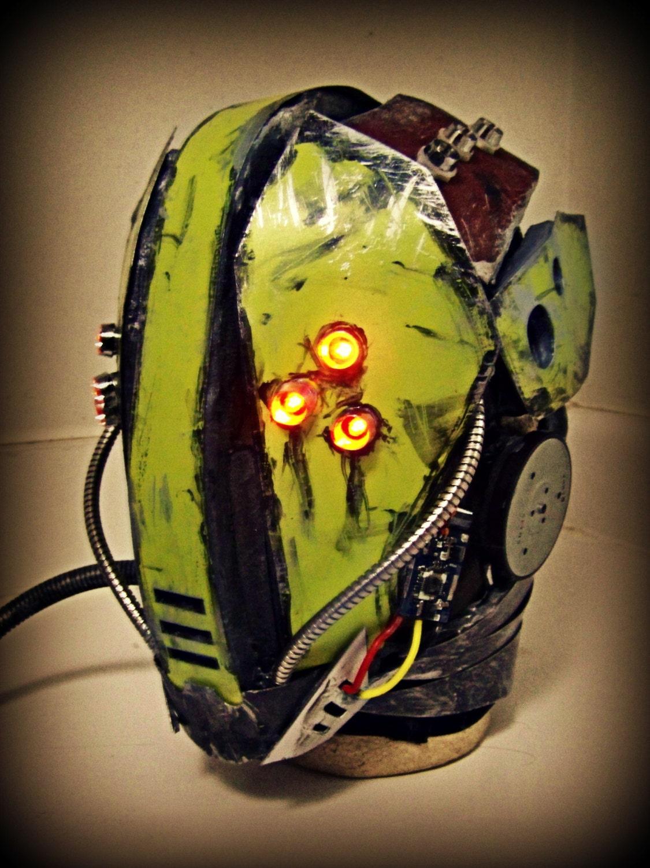 The Glitch Full Face Dj Helmet Led
