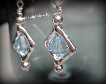 Diamond Frame Swarovski Earrings