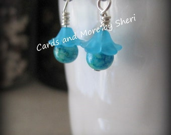 CLEARANCE Turquoise Sugarplum Fairy Earrings