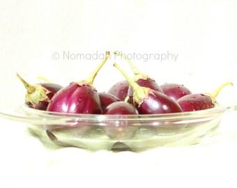 Food photography, still life, eggplant photo, aubergine, kitchen art, purple, cook's gift, nomadah photography