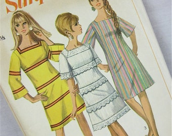 Vintage 60s Dress Sewing Pattern, Simplicity, 7142