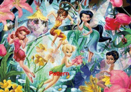 Instant Cross Stitch Patterns | Tag | tinkerbell